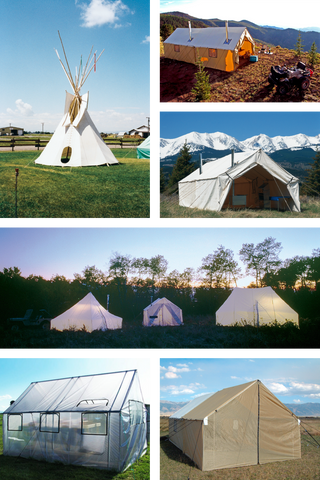 All custom model tents are base tents and do not include tent stakes. All tents include rope tension adjusters DVD and instructions. & Montana Canvas - Custom Tents