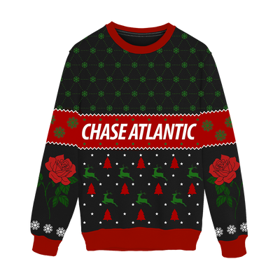 Rose Holiday Knit Sweater