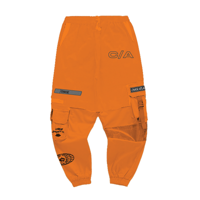 Custom Orange Space Pants