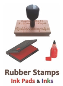 Today Wood Mounted Red Rubber Stamp