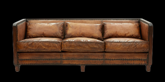 Rustic Deco 3 Seater Sofa - Genuine Leather