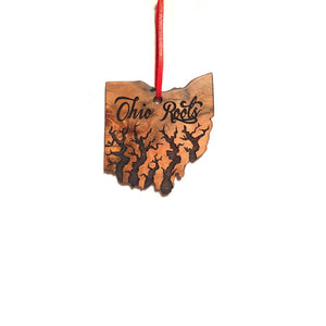 Ohio Christmas Ornament, Wood Ohio State Ornament, Ohio Roots Christmas Ornament, Personalized Ornament