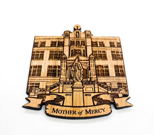 Mother of Mercy High School Ornament, Cincinnati Ohio, Personalized Wood Ornament