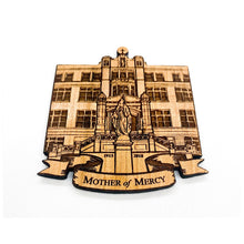 Load image into Gallery viewer, Mother of Mercy High School, Cincinnati Ohio School Wood Magnet, Personalized Magnet