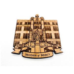 Mother of Mercy High School, Cincinnati Ohio School Wood Magnet, Personalized Magnet