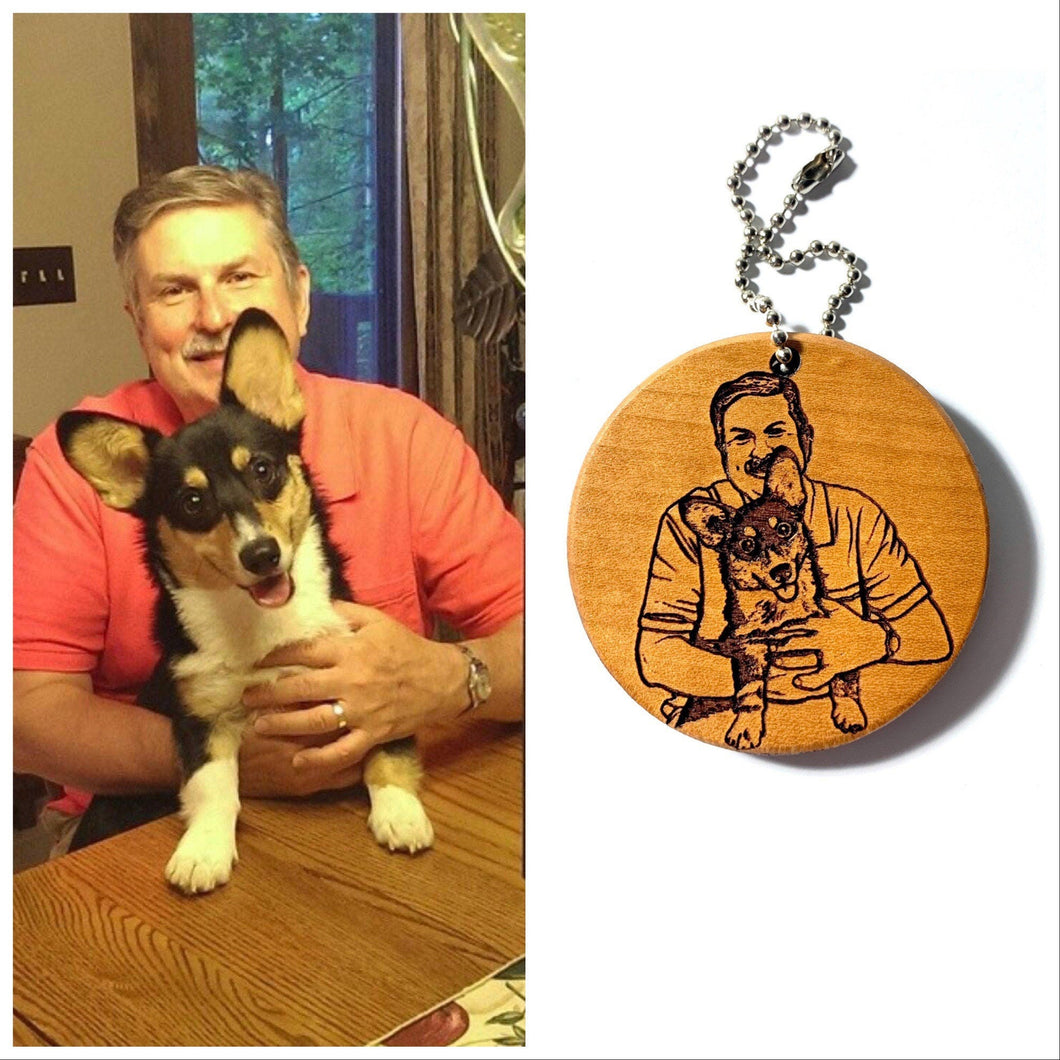 Personalized Dog Dad Keychain, Custom Pet Keychain, Personalized Fathers Day gift, Dog Dad Gift, Dog Loss Gift
