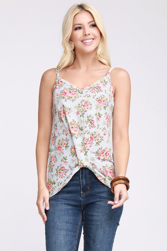 Twisted Front Knot Tank
