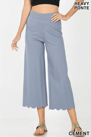 High Rise Scallop Crop Pants