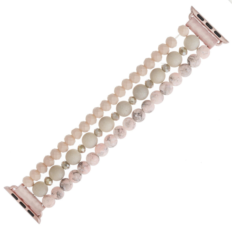Natural Stone Detail Watch Band ~Pink~