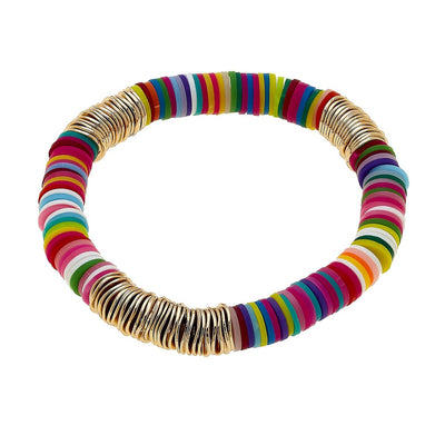 Rainbow Beaded Stretch Bracelet