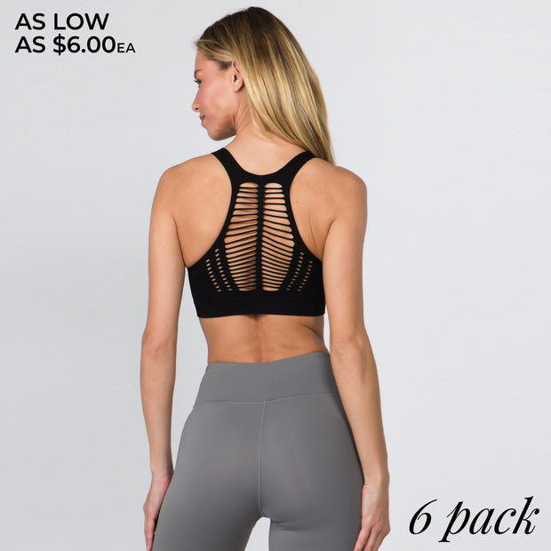 Ribbed Macrame Sports Bra