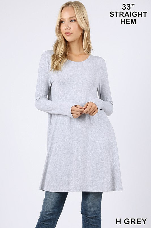 Swing with Me Tunic ~Heather Grey~