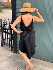 V Back Tank Dress ~Black~