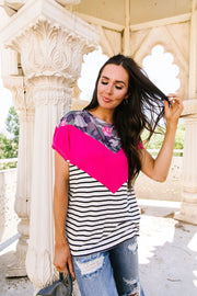 All Girl Chevron Top