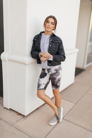 Biking In Style Charcoal Biker Shorts