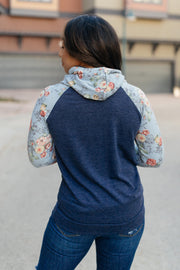 Bits Of Floral And A Zipper Hoodie