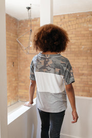 Camo & Buttons On The Block Top
