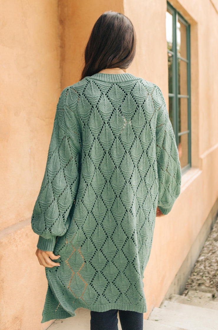 Choose Me Chunky Cardigan in Sea Green *