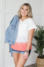 Color Block Tie Dye Top