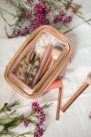 Gold and Glam 5 Pcs Brush Set With Pouch