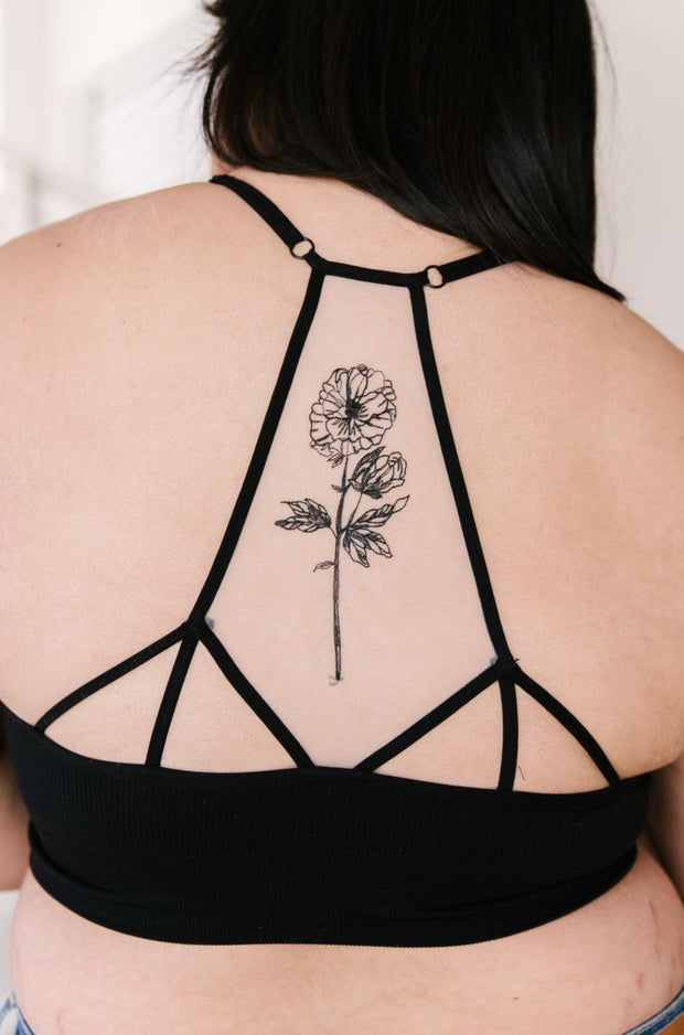 Hint of Intimate Tattoo Mesh Bralette