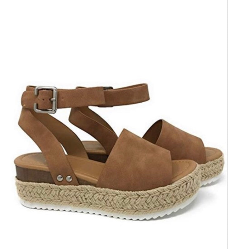 Single Thicker Sole Sandal ~Tan~