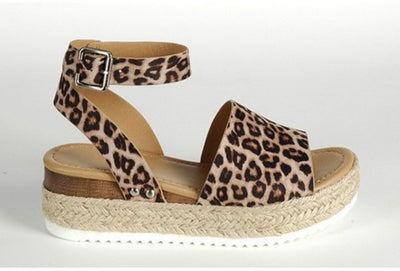 Single Thicker Sole Sandal ~Leopard~