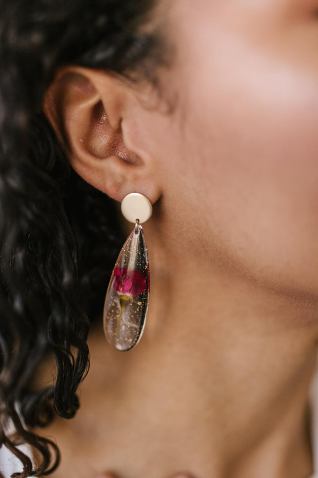 Impressively Pressed Earrings in Cardinal