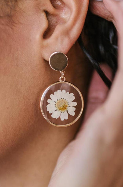 Impressively Pressed Earrings in Sunflower