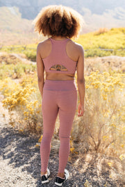 Lazy Days Racer Back Bra in Mauve *
