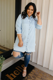 PREORDER: Leila Denim Button-Up