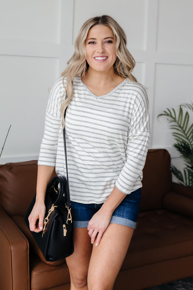 Stripes And A Hood Top