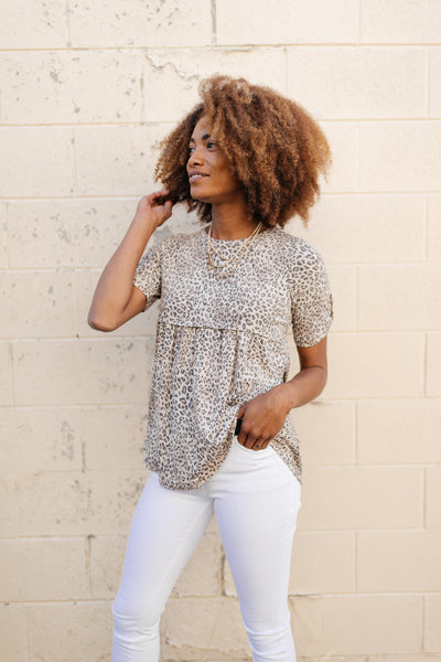 Subtle & Sweet Spotted Babydoll Top