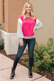 The Bridget Block Top in Rose