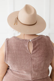 The Go To Romper in Dusty Mauve