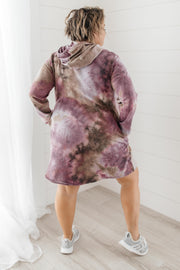 Tie Dye With A Hood Dress
