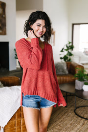 Ashlyn Hooded Fuzzy Sweater