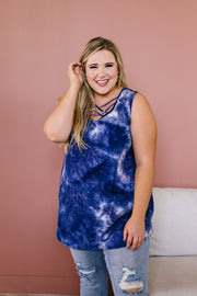 Blue Waters CrissCross Tie Dye Tank