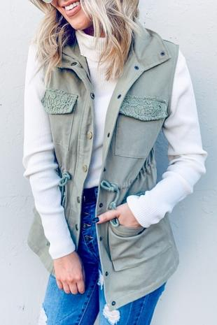 Olive Lacey Vest