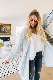 Free Fall Pale Blue Cardigan