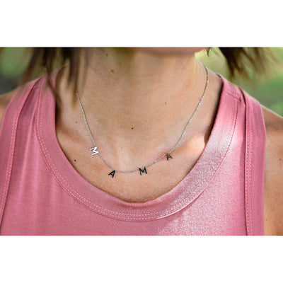 Stainess Steel MAMA necklace