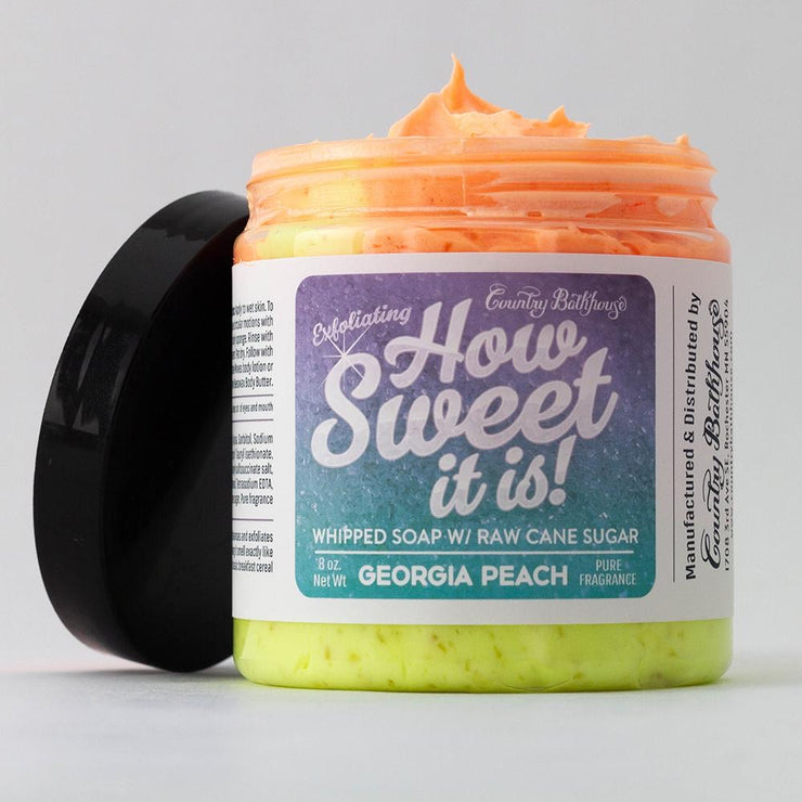 How Sweet It Is Whipped Soap with Raw Cane Sugar - Georgia Peach