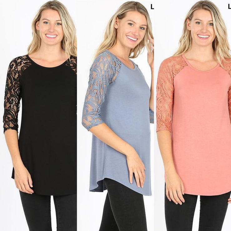 Luxe Lace Round Neck Top