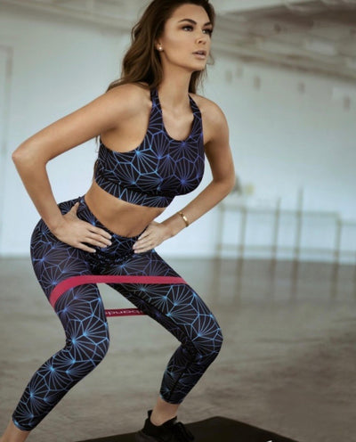 Geometric Honeycomb Workout Sports Leggings