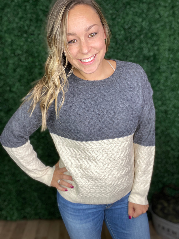 Casually Cozy Sweater in Charcoal