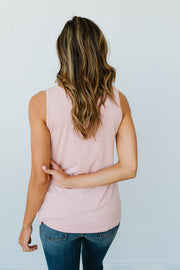 Lace & Shoulders Above The Rest Top In Blush