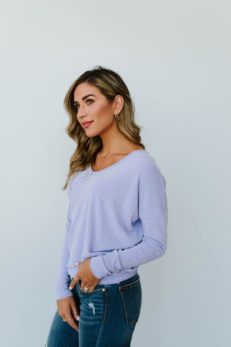 Lounging In Color Top In Lavender