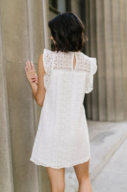 Lovely Lace Overlay In Ivory