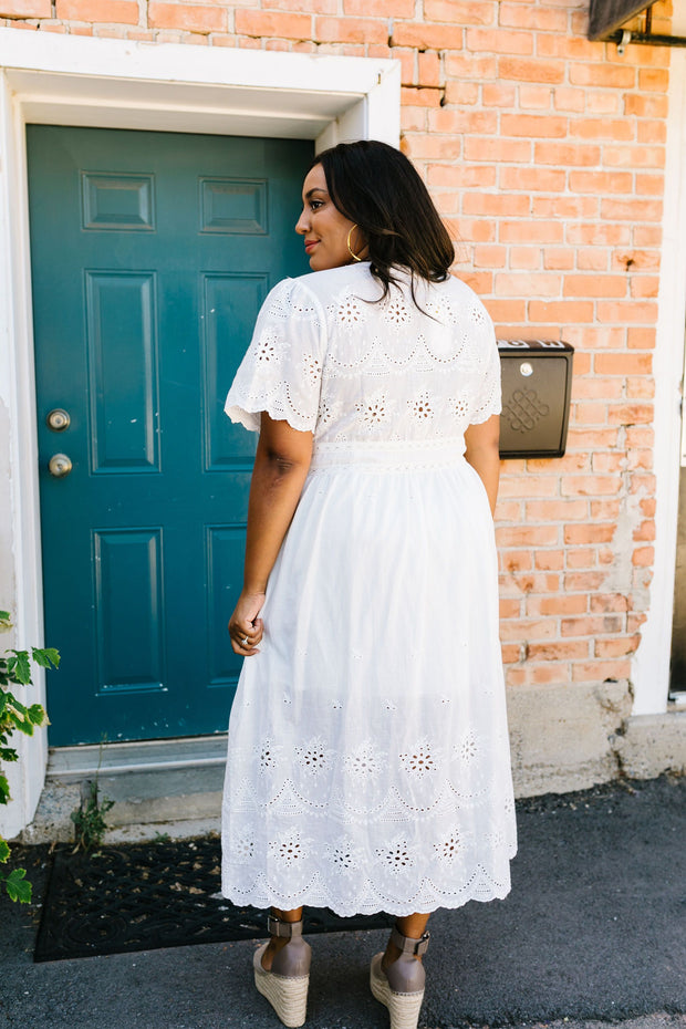 Made For Romance Lace Midi Dress