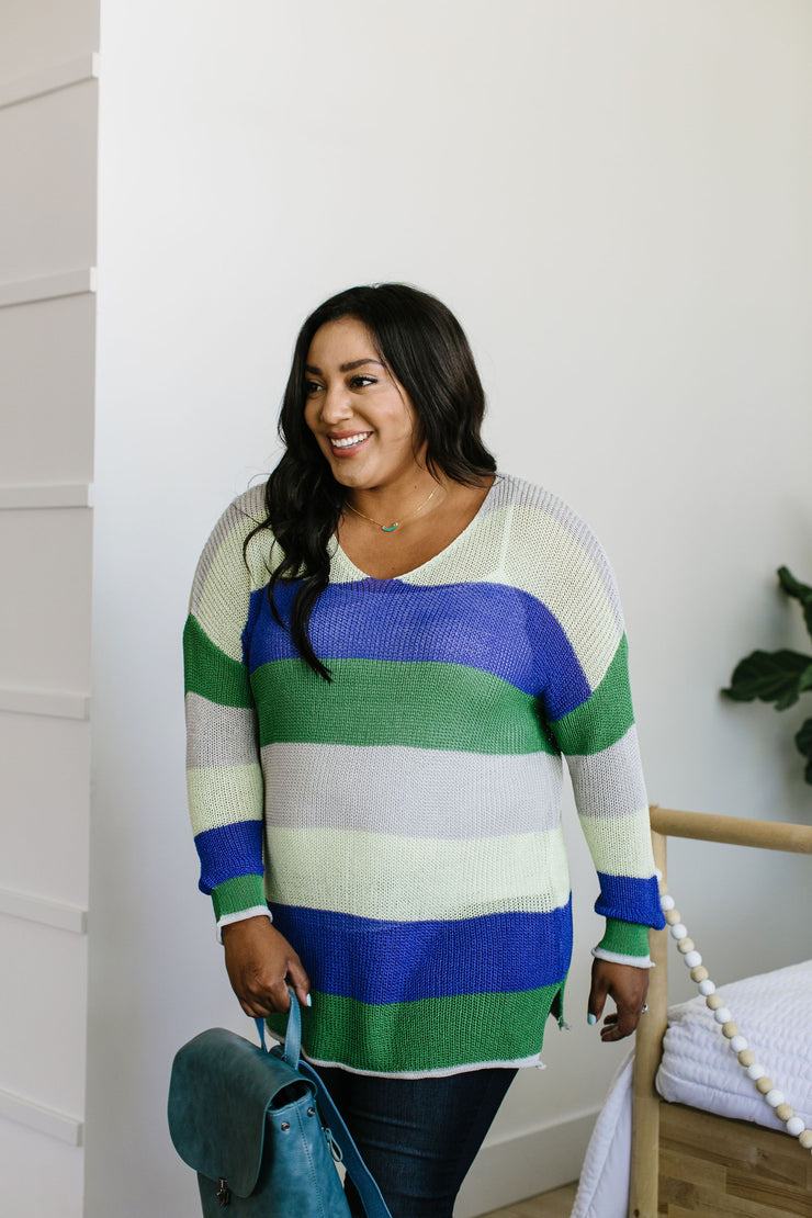 Sheers To You Striped Sweater